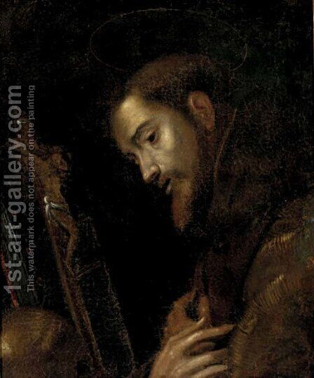 Saint Francis 2 by (after)  Francisco De Zurbaran - Reproduction Oil Painting