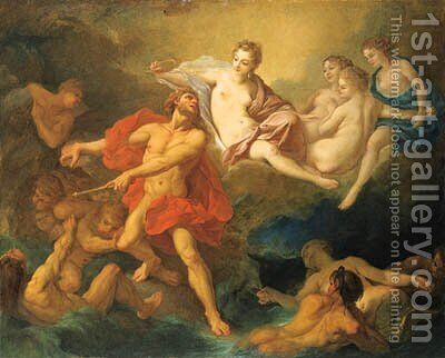 Juno commanding Aeolus to release the Winds by (after) Francois Boucher - Reproduction Oil Painting