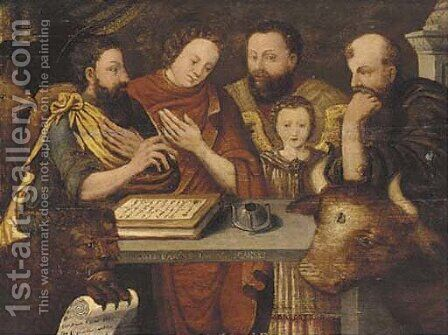The four Evangelists by (attr. to) Floris, Frans - Reproduction Oil Painting