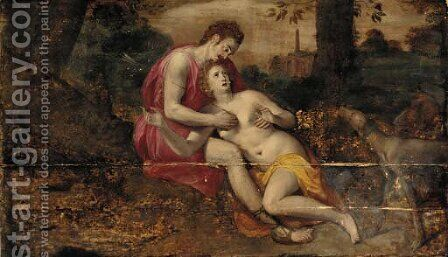 Venus and Adonis 2 by (attr. to) Floris, Frans - Reproduction Oil Painting