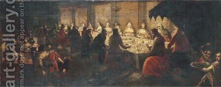 The Wedding Feast at Cana by (after) Frans I Francken - Reproduction Oil Painting