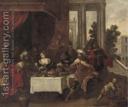 The Banquet of Esther by (after) Frans II Francken - Reproduction Oil Painting