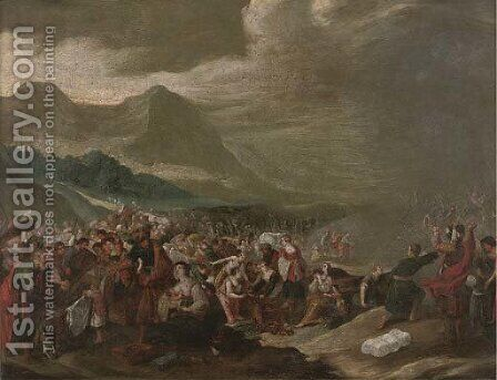 The Crossing of the Red Sea by (after) Frans II Francken - Reproduction Oil Painting