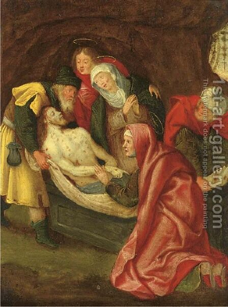 The Entombment by (after) Frans II Francken - Reproduction Oil Painting