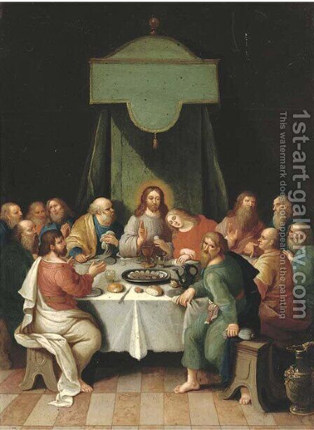 The Last Supper by (after) Frans II Francken - Reproduction Oil Painting