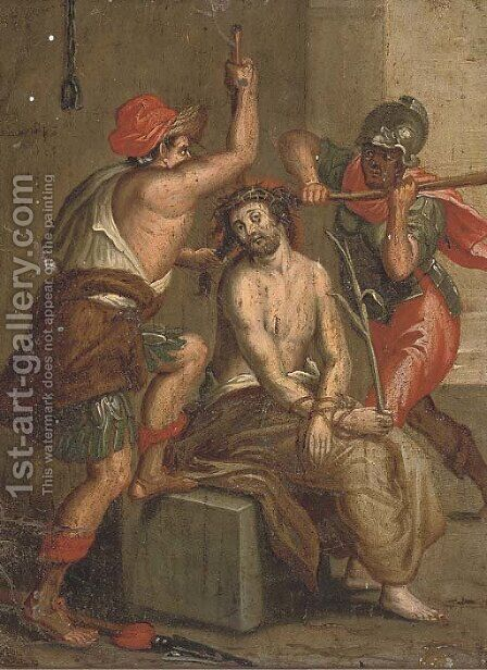 The Mocking of Christ 3 by (after) Frans II Francken - Reproduction Oil Painting