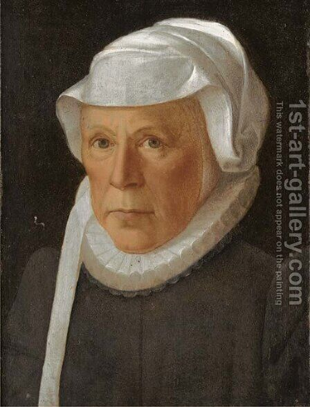 Portrait of a lady, bust-length by (after) Frans, The Younger Pourbus - Reproduction Oil Painting