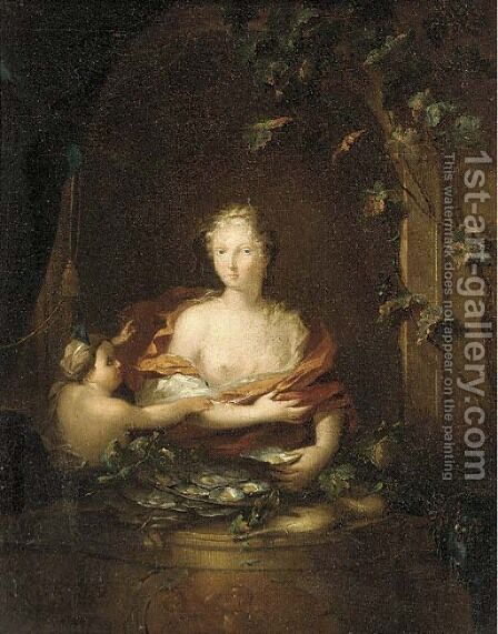 Portrait of a lady posing as Venus by (after) Frans Van Mieris - Reproduction Oil Painting