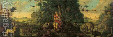 Orpheus charming the animals by (after) Frederik Bouttats I - Reproduction Oil Painting