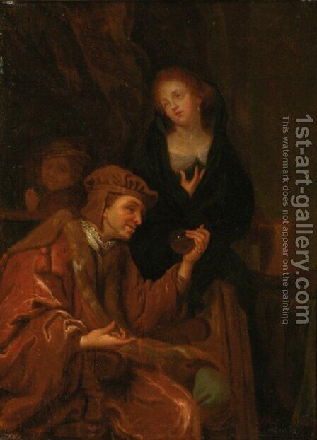 The water doctor by (after) Gabriel Metsu - Reproduction Oil Painting