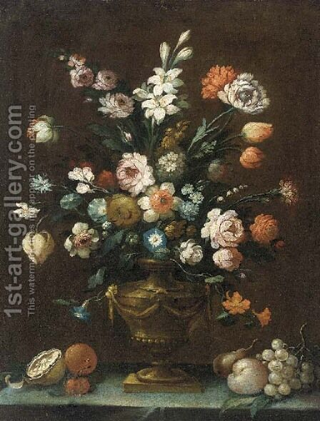 Flowers by (after) Gasparo Lopez - Reproduction Oil Painting
