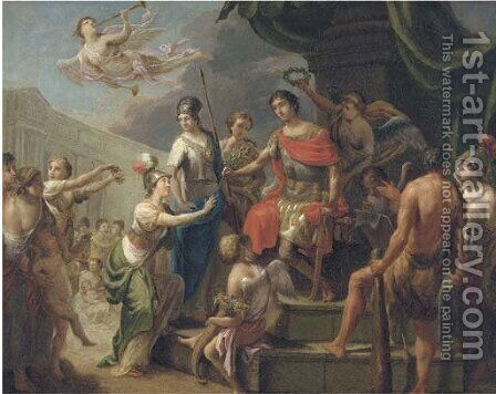 The Triumph of a Roman Emperor by (after) Gerard De Lairesse - Reproduction Oil Painting