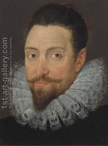 Portrait of Sir Walter Raleigh by (after) George Gower - Reproduction Oil Painting