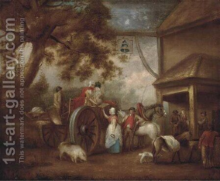 Preparing for the journey by (after) George Morland - Reproduction Oil Painting