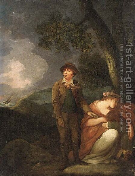 Shipwrecked by (after) George Morland - Reproduction Oil Painting