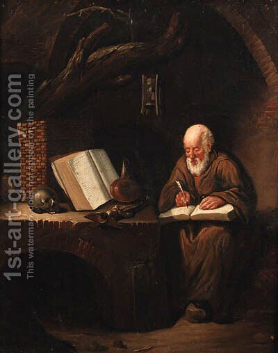 Saint Jerome by (after) Gerrit Dou - Reproduction Oil Painting