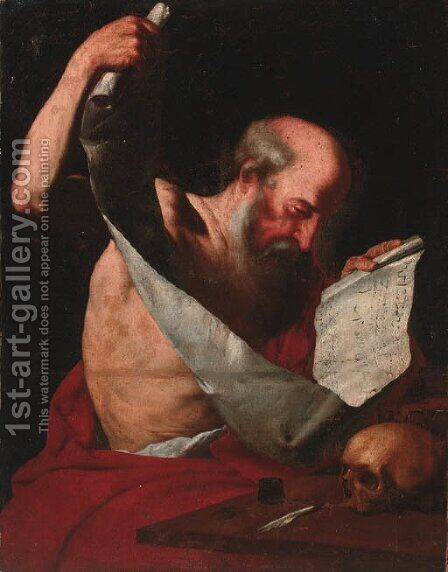 Saint Jerome by (after) Gerard Seghers - Reproduction Oil Painting