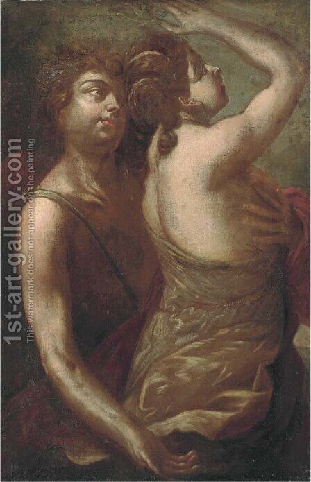 Daphne and Apollo by (after) Giacinto Brandi - Reproduction Oil Painting