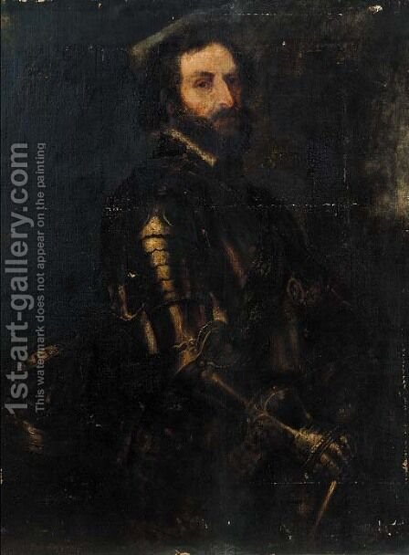 Portrait of a bearded gentleman by (after) Giacomo Robusti Called Tintoretto - Reproduction Oil Painting