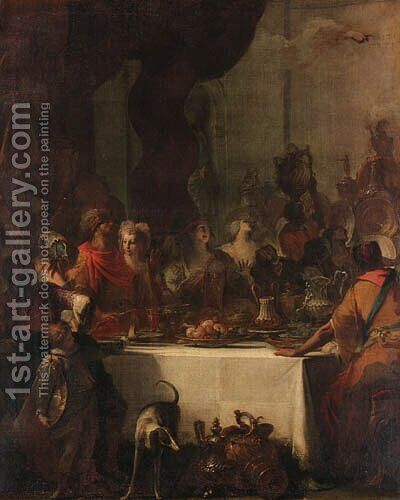 Belshazzar's Feast by (after) Giovanni Battista Piazzetta - Reproduction Oil Painting