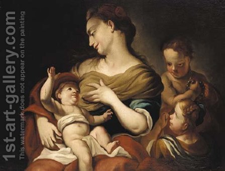 Charity by (after) Giovanni Battista Piazzetta - Reproduction Oil Painting