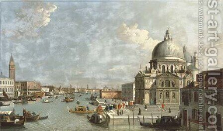 The Entrance of the Grand Canal, Venice by (after) (Giovanni Antonio Canal) Canaletto - Reproduction Oil Painting