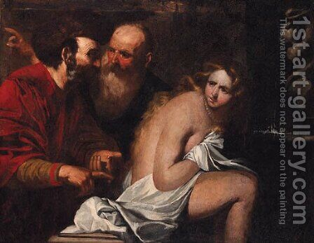 Susannah and the Elders by (after) Giovanni Battista Langetti - Reproduction Oil Painting