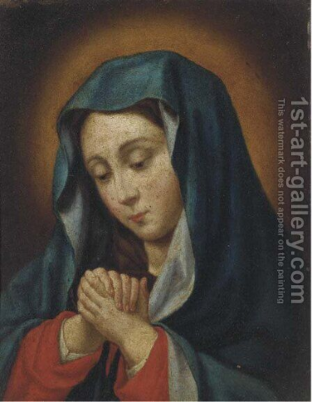 The Virgin at prayer by (after) Giovanni Battista Salvi, Il Sassoferato - Reproduction Oil Painting