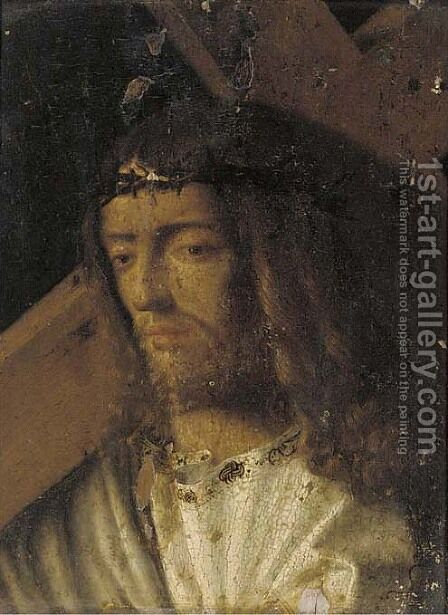 Christ carrying the Cross by (after) Giovanni Bellini - Reproduction Oil Painting
