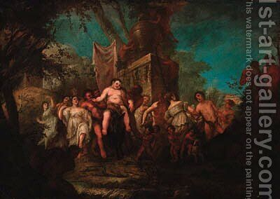The Triumph of Silenus by (after) Giulio Carpioni - Reproduction Oil Painting