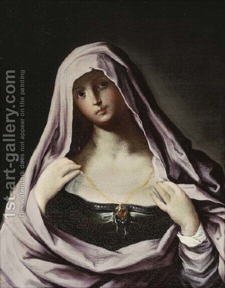 A female Saint by (after) Guido Reni - Reproduction Oil Painting