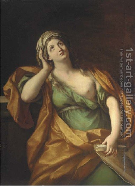 A sibyl by (after) Guido Reni - Reproduction Oil Painting