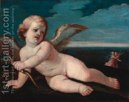 Cupid 2 by (after) Guido Reni - Reproduction Oil Painting