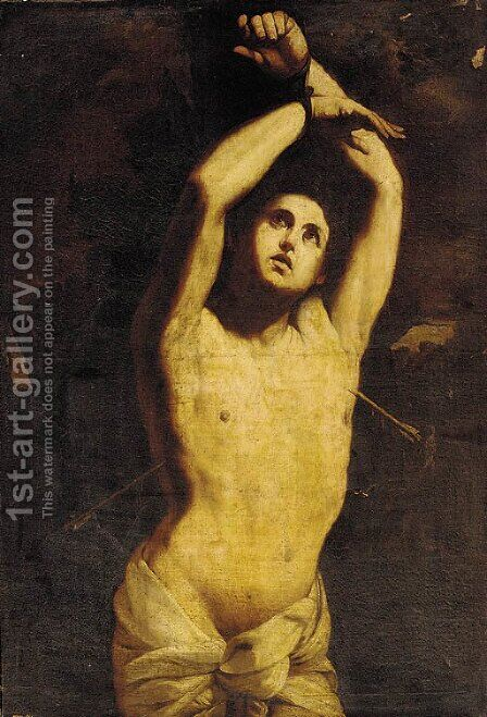 Saint Sebastian 5 by (after) Guido Reni - Reproduction Oil Painting