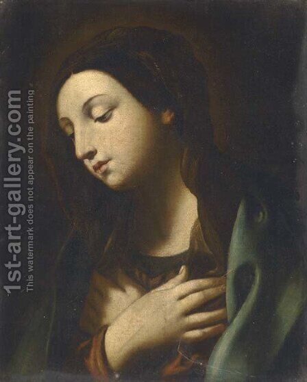 The Virgin Annunciate by (after) Guido Reni - Reproduction Oil Painting