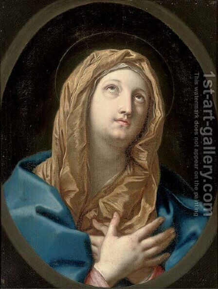 The Virgin Annunciate 2 by (after) Guido Reni - Reproduction Oil Painting
