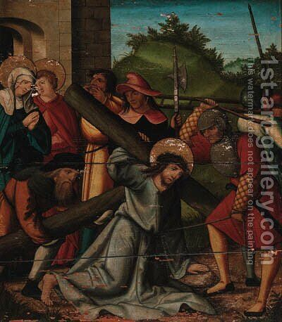 Christ carrying the Cross by (after) Hans Leonard Schauffelein - Reproduction Oil Painting