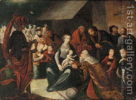 The Adoration of the Magi 2 by (after) Hans I Rottenhammer - Reproduction Oil Painting