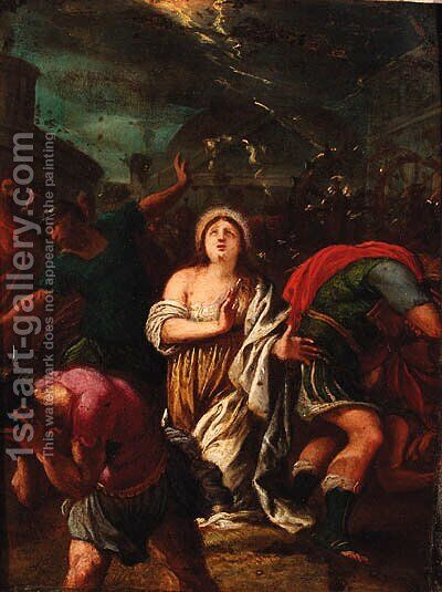 The martyrdom of Saint Catherine by (after) Hans I Rottenhammer - Reproduction Oil Painting