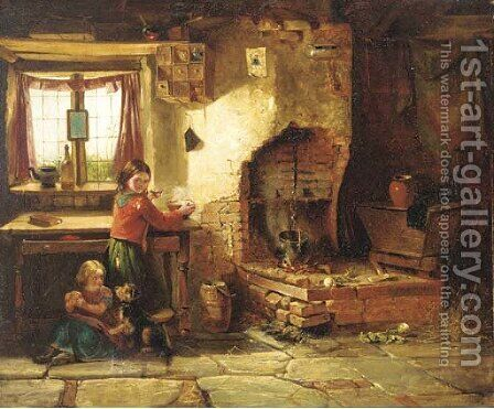 The crofter's children by (after) Haynes King - Reproduction Oil Painting
