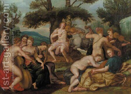Apollo and the Muses by (after) Hendrick De Clerck - Reproduction Oil Painting