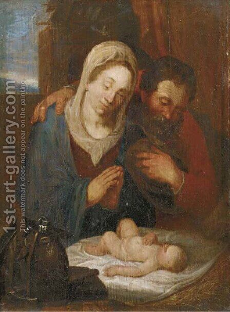 The Holy Family by (after) Hendrick Goltzius - Reproduction Oil Painting