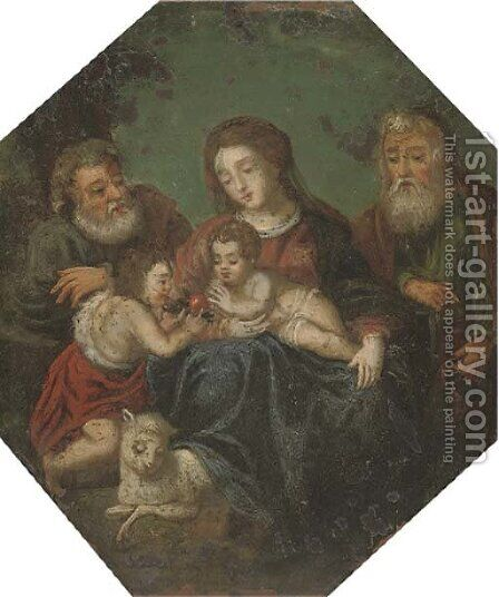 The Holy Family with Saint Joachim and the Infant Saint John the Baptist by (after) Hendrik Van Balen, I - Reproduction Oil Painting