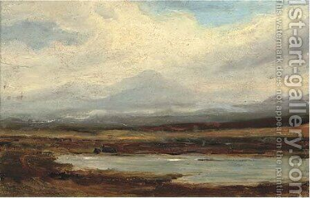 A view across the lowlands by (after) Horatio McCulloch - Reproduction Oil Painting