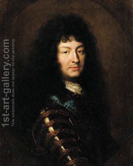 Portrait of King Louis XIV by (after) Hyacinthe Rigaud - Reproduction Oil Painting