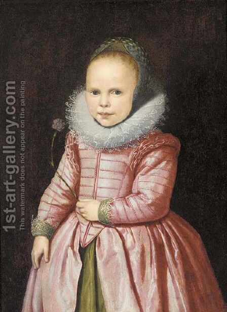 Portrait of a girl by (after) Jacob Gerritsz. Cuyp - Reproduction Oil Painting