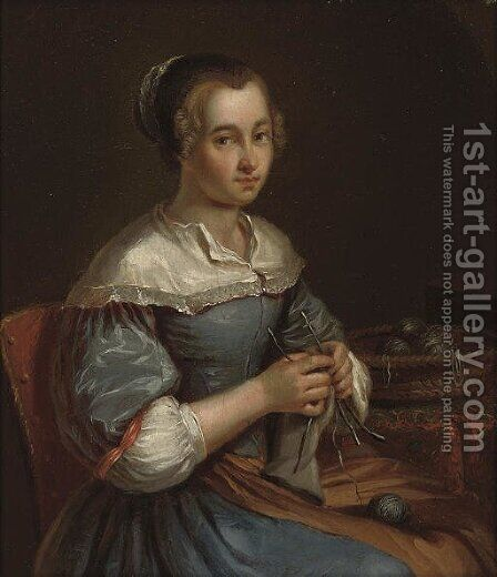 Portrait of a young woman by (after) Jacob Toorenvliet - Reproduction Oil Painting