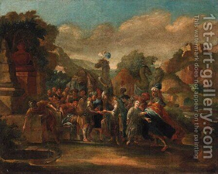 Joseph sold into slavery by (after) Jacob Willemsz De The Elder Wet - Reproduction Oil Painting