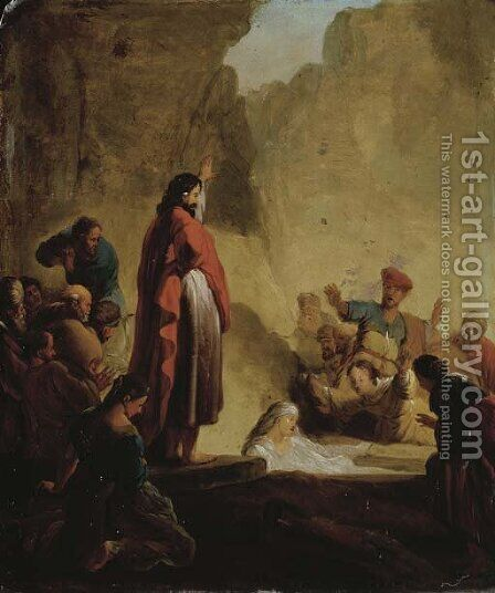 The Raising of Lazarus by (after) Jacob Willemsz De The Elder Wet - Reproduction Oil Painting