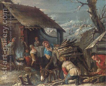 Winter and Autumn by (after) Jacopo Bassano (Jacopo Da Ponte) - Reproduction Oil Painting
